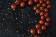 Ramo da cereja dos tomates Fotografia de Stock