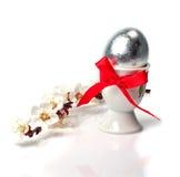 Ramo da flor do abricó e dos ovos da páscoa Imagem de Stock Royalty Free