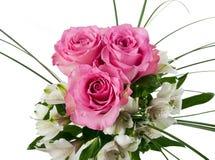 Rosas y alstroemerias Foto de archivo libre de regalías