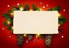 Ramo de Art Christmas Background With Fir imagem de stock royalty free
