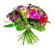 Ramo de color de rosa, de paeonia y de orquídea Fotos de archivo libres de regalías