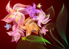 Ramo de colores Foto de archivo libre de regalías