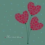 Ramo de corazones Imagen de archivo libre de regalías