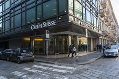 Ramo de Credit Suisse em Milão imagem de stock royalty free