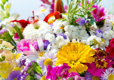 Ramo de diversas flores del verano Fotografía de archivo