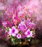 Ramo de estilo multicolor de la pintura de la acuarela de las flores Fotos de archivo libres de regalías