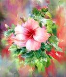 Ramo de estilo multicolor de la pintura de la acuarela de las flores Imágenes de archivo libres de regalías