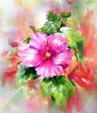 Ramo de estilo multicolor de la pintura de la acuarela de las flores Fotografía de archivo libre de regalías