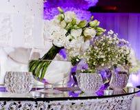 Ramo de flores blancas Fotografía de archivo