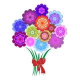 Ramo de flores coloridas brillantes Foto de archivo