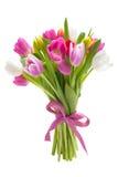 Ramo de flores de los tulipanes de la primavera Foto de archivo libre de regalías