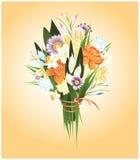 ramo de flores del resorte ilustración del vector