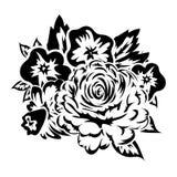 Ramo de flores monocromáticas Imágenes de archivo libres de regalías