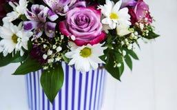 Ramo de flores rosadas Imagen de archivo libre de regalías