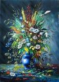 Ramo de flores salvajes stock de ilustración