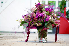 Ramo de flores violetas Foto de archivo