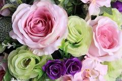 Ramo de fondo de las rosas Imagen de archivo libre de regalías