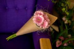 Ramo de gerbera rosado Imágenes de archivo libres de regalías