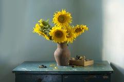 Ramo de girasoles amarillos Fotos de archivo