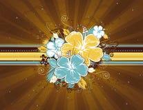 Ramo de hibisco, vector Foto de archivo libre de regalías
