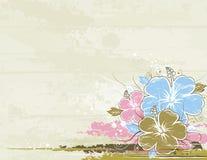 Ramo de hibisco, vector Fotos de archivo
