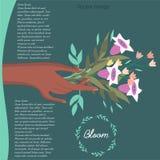 Ramo de imagen de las flores stock de ilustración