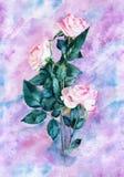 Ramo de la acuarela de flores Fotos de archivo libres de regalías
