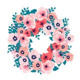 Ramo de la acuarela de flores ilustración del vector