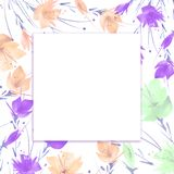 Ramo de la acuarela de flores amapola, aciano stock de ilustración