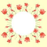 Ramo de la acuarela de flores Fondo floral ilustración del vector