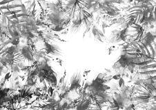 Ramo de la acuarela de flores Hierba salvaje, flores ilustración del vector