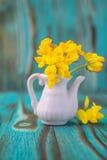 Ramo de la anémona, windflower en jarro Fotos de archivo libres de regalías