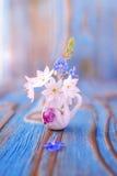 Ramo de la anémona, windflower en jarro Imagen de archivo libre de regalías