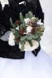 Ramo de la boda con los conos del pino Imagen de archivo