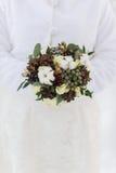 Ramo de la boda con los conos del pino Imagen de archivo libre de regalías