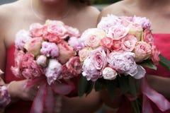 Ramo de la boda de flores Fotos de archivo libres de regalías