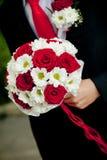 Ramo de la boda de flores afuera Imágenes de archivo libres de regalías