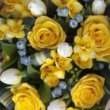 Ramo de la boda de flores amarillas Imagen de archivo libre de regalías