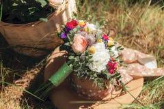 Ramo de la boda de flores coloridas Imagen de archivo