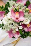 Ramo de la boda de orquídeas Foto de archivo libre de regalías