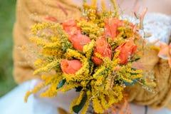 Ramo de la boda del otoño Fotos de archivo libres de regalías