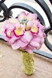 Ramo de la boda hecho de las flores de la orquídea Imagen de archivo
