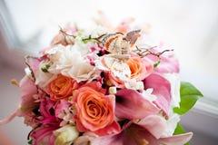 Ramo de la boda de flores foto de archivo libre de regalías