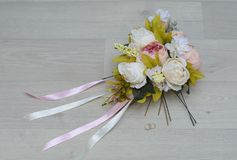 Ramo de la boda hecho por las manos Fotografía de archivo libre de regalías