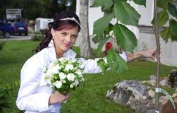 Ramo de la explotación agrícola de la novia fotografía de archivo libre de regalías