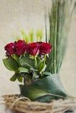 Ramo de la flor de la rosa del rojo Fotos de archivo libres de regalías