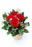 Ramo de la flor de las tarjetas del día de San Valentín Imagen de archivo libre de regalías