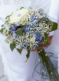Ramo de la novia azul y blanca. fotografía de archivo libre de regalías