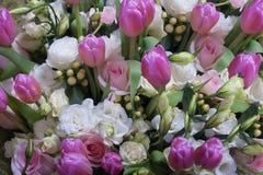 Ramo de la rosa del rosa y del blanco Imágenes de archivo libres de regalías