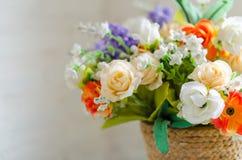 Ramo de las flores artificiales Foto de archivo libre de regalías